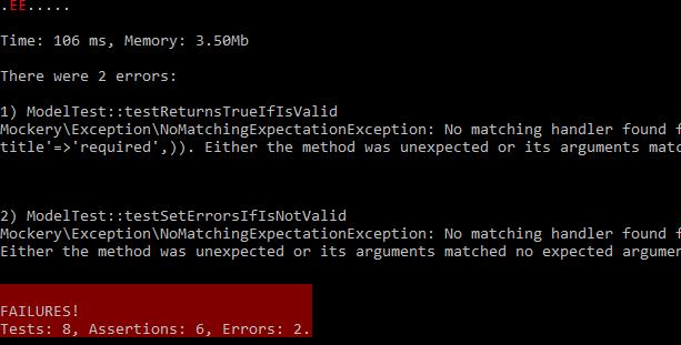 phpunit-errors