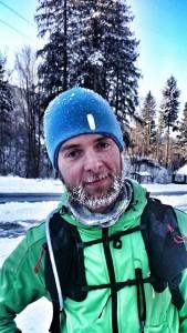 Tak wygląda się zimą po przebiegnięciu 25km w górach :)